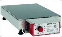 Heizplatten aus CERAN 500®, Tischgerät mit angebautem Regler