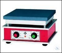 Heizplatte, thermostatisch geregelt und mit stufenlos verstellbarer Heizleistung